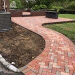Walkway with Brick Pavers