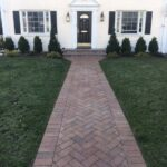 Front Yard with Straight Walkway